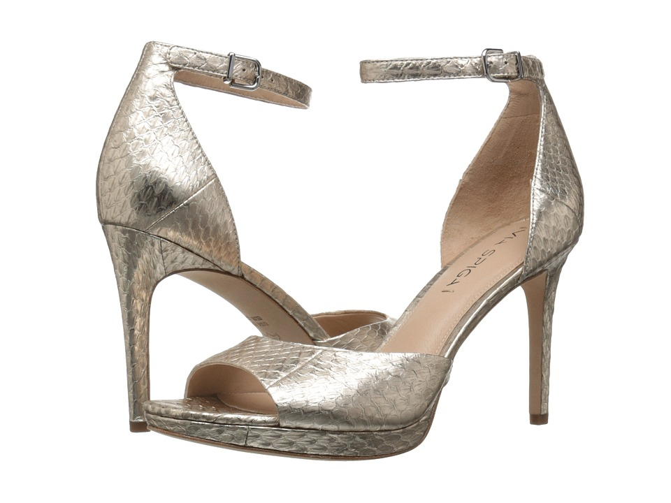 Via Spiga Salina2 (Platinum Metal Wash Land Snake) High Heels