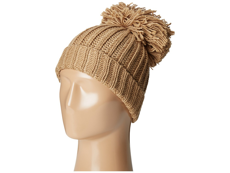 BCBGMAXAZRIA - Monster Pom Hat (Camel) Caps