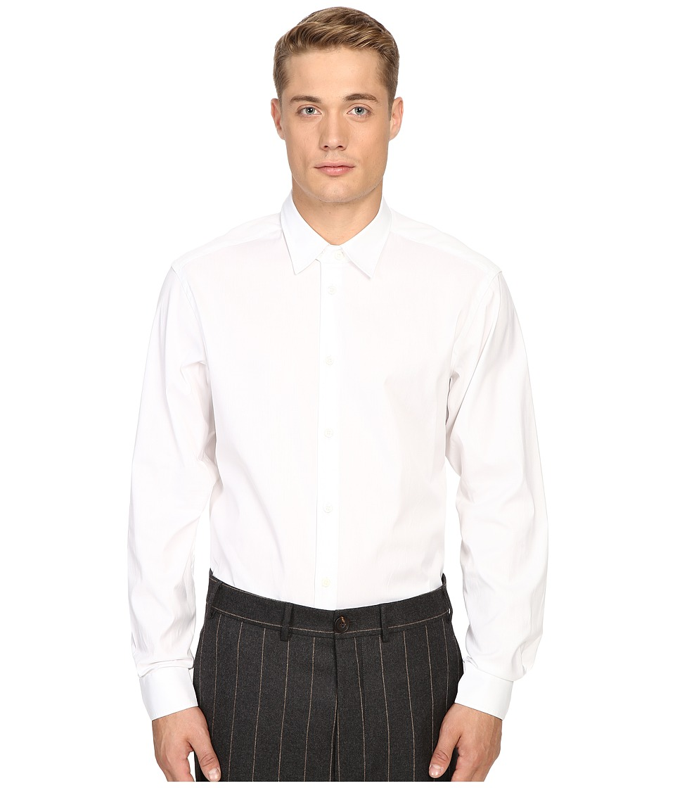 Vivienne Westwood - Classic Oxford New Cutaway Shirt (White) Men's Clothing