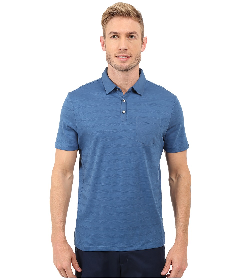 Calvin Klein - Short Sleeve Solid Textured Polo (Oahu) Men's Clothing