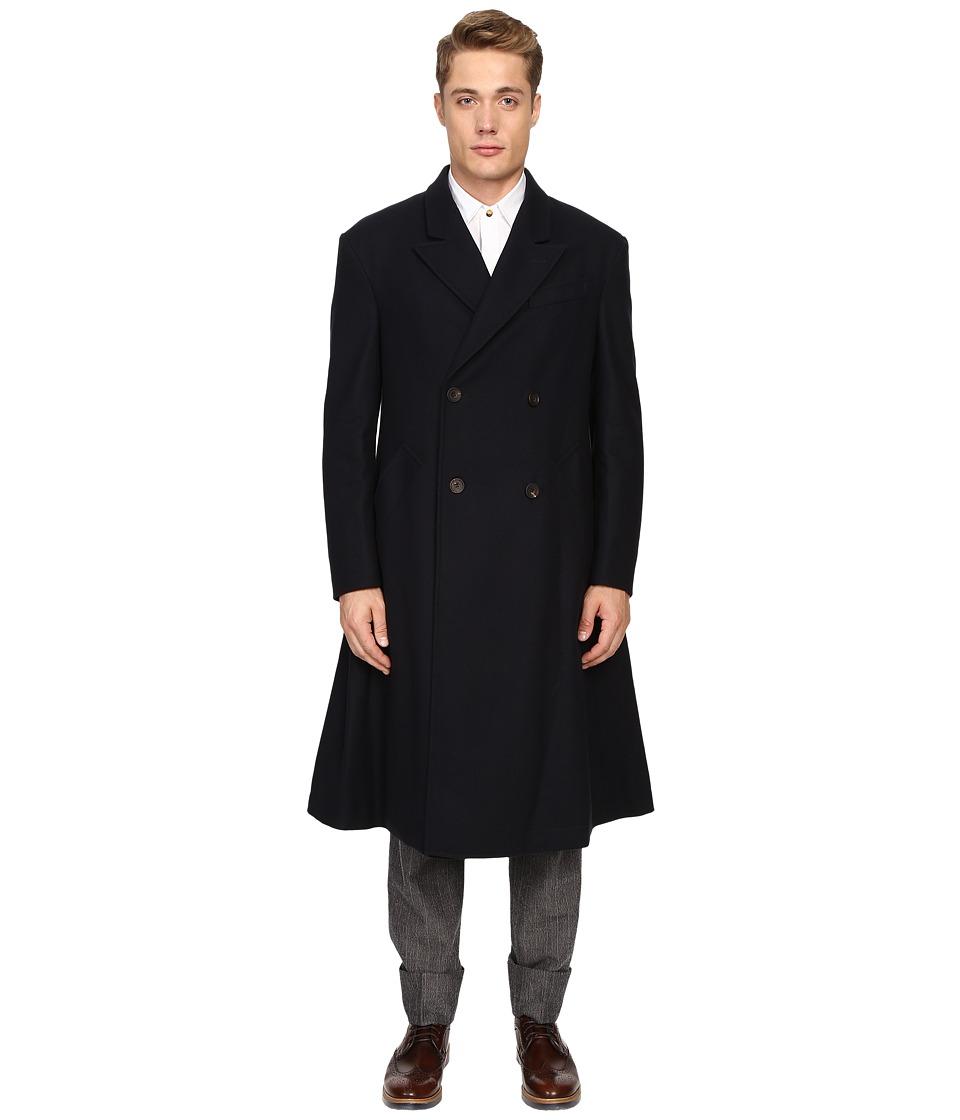 Vivienne Westwood - Classic Melton Hawkwood Coat (Navy) Men's Coat