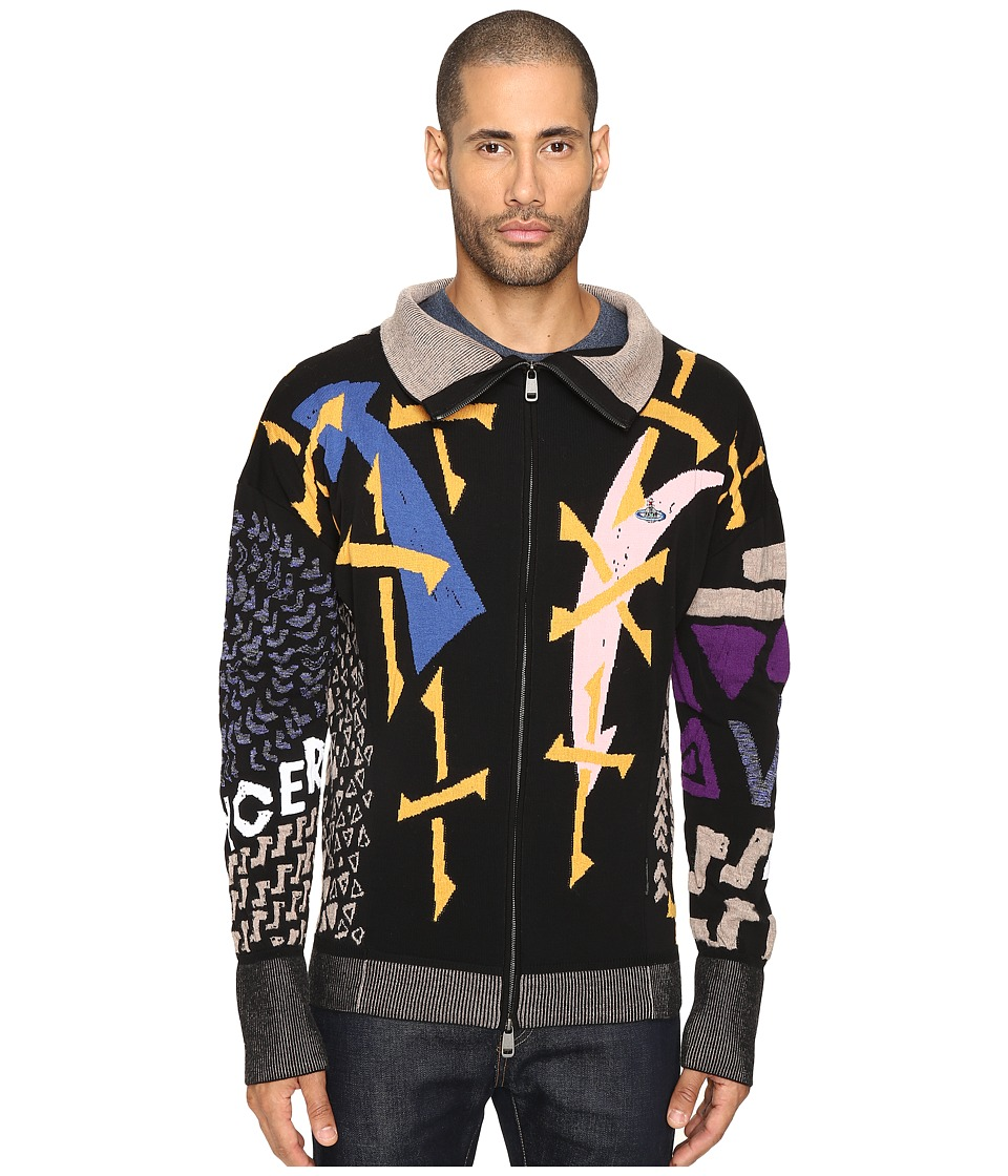 Vivienne Westwood - Manhole Jacquard Zip Cardigan (Multi) Men's Sweater