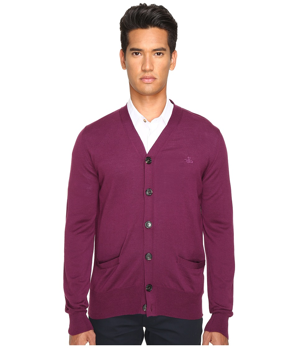 Vivienne Westwood - Classic Cardigan (Purple) Men's Sweater