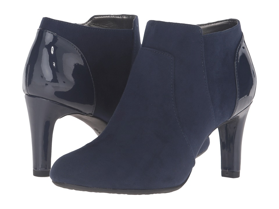 Bandolino - Liron (Navy Suede/Patent) Women's Shoes