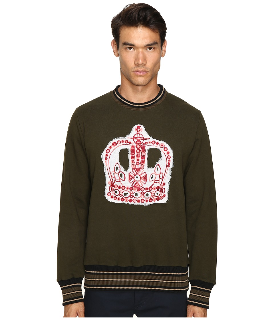 Vivienne Westwood - Crown Embroidery Sweatshirt (Green) Men's Sweatshirt
