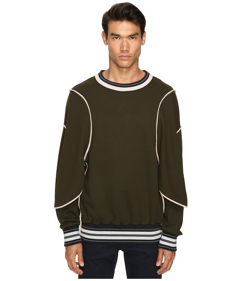 Vivienne Westwood - T-Shirt Sleeve Sweatshirt (Green) Men's Sweatshirt