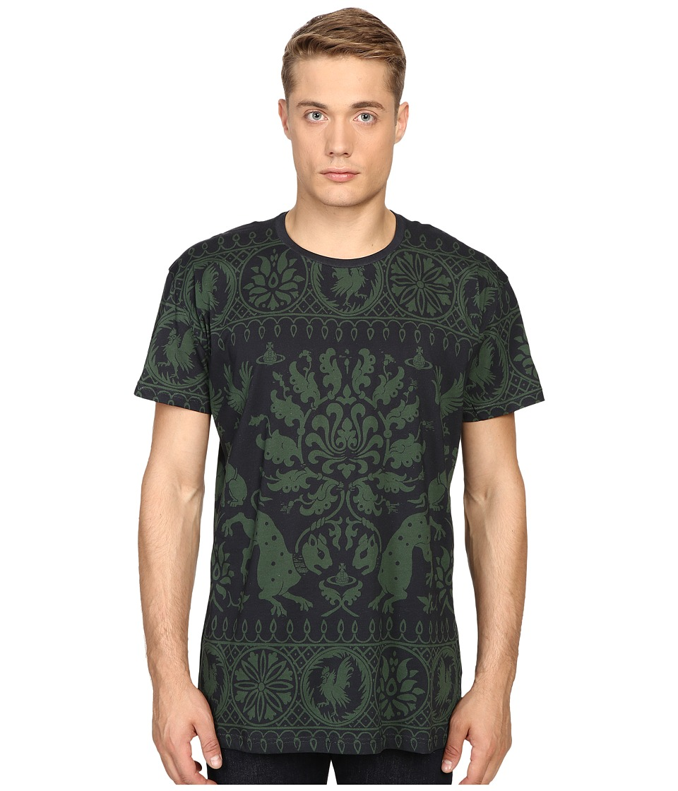 Vivienne Westwood - Medieval Woodcut Tee (Navy) Men's T Shirt