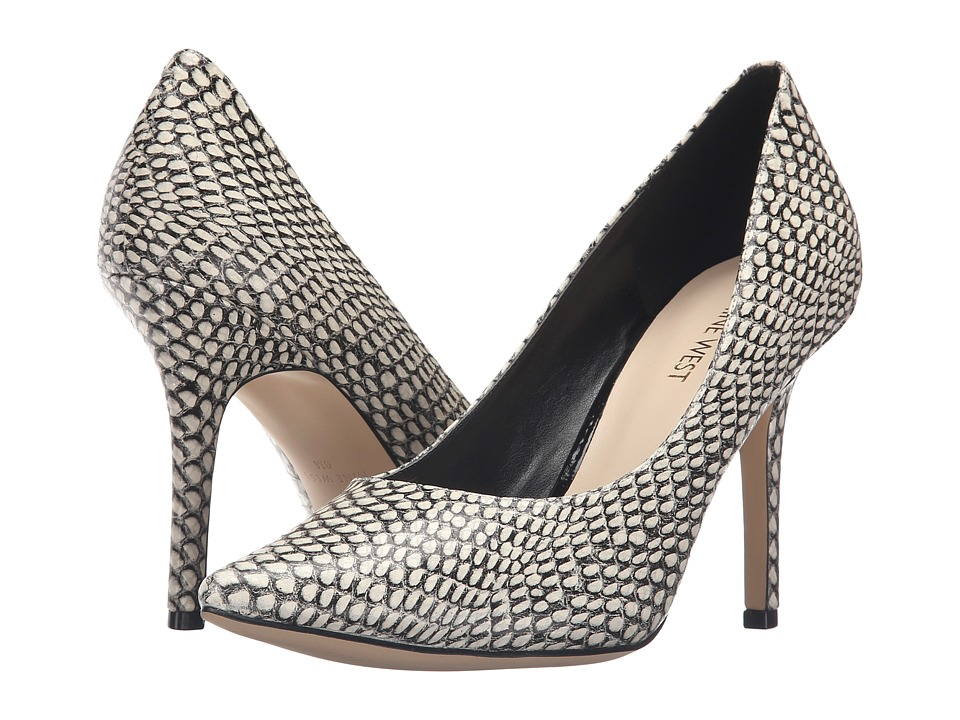 Nine West - Jackpot (Black/White Synthetic) High Heels