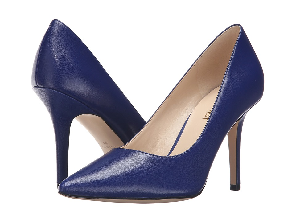 Nine West - Jackpot (Blue Leather) High Heels