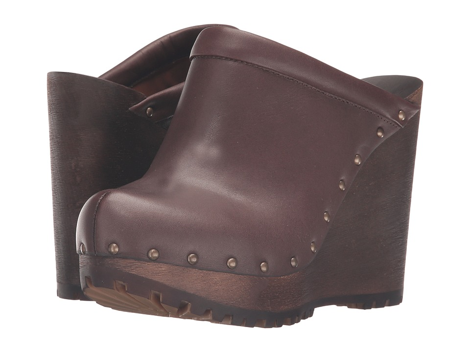 See by Chloe SB27030 Dark Brown Vegetal Calf Womens Clog Shoes