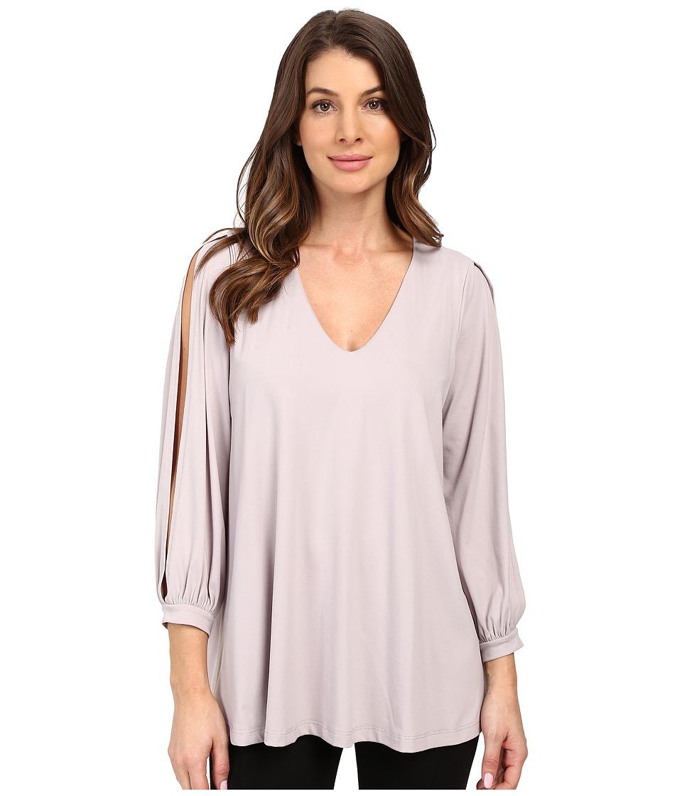 Susana Monaco - Alaina Top (Dove) Women's Long Sleeve Pullover