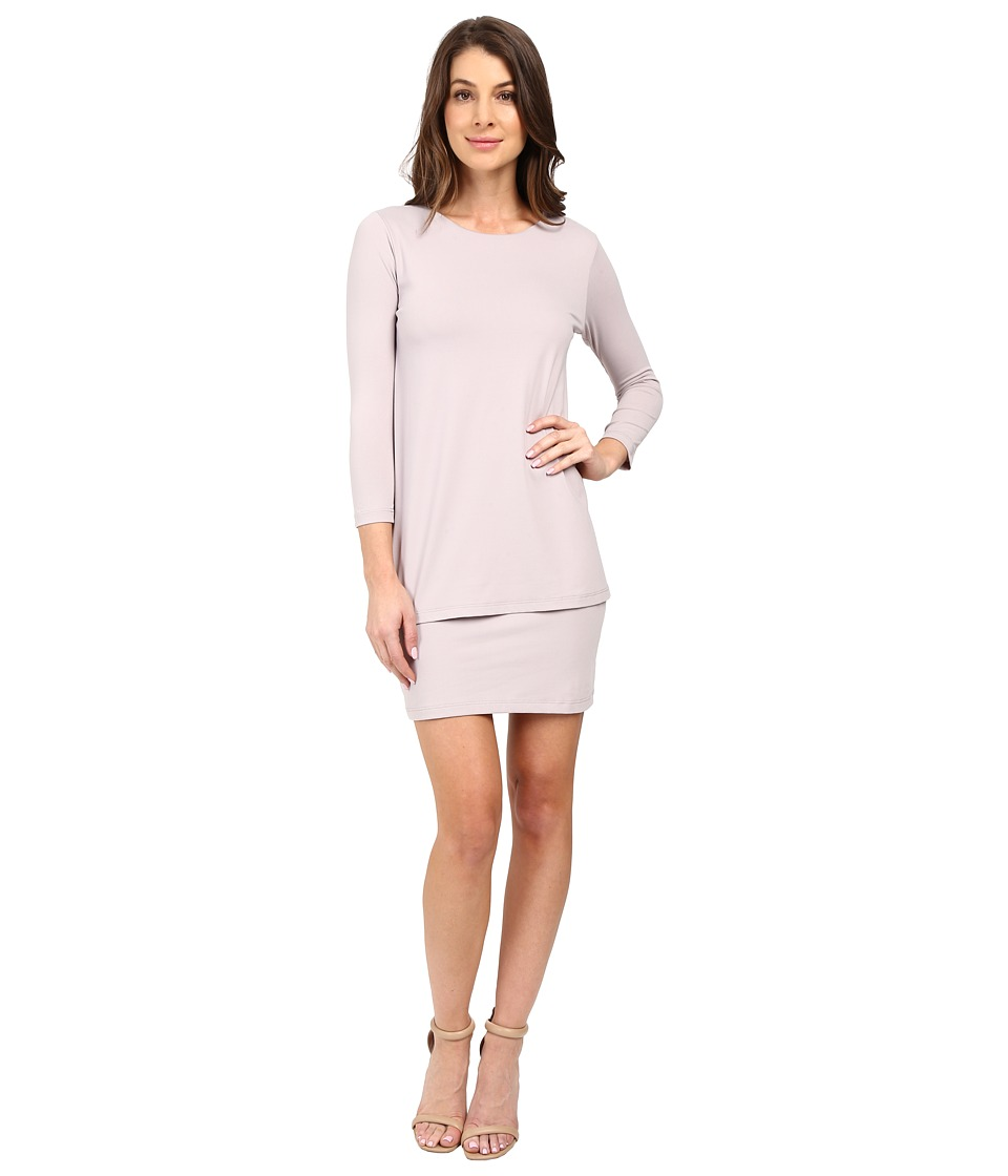 Susana Monaco - Double Layer Dress (Dove) Women's Dress