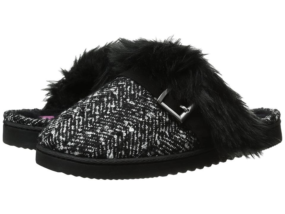 Foot Petals Technogel Closed Toe Scuff (Black/White Tweed) Women