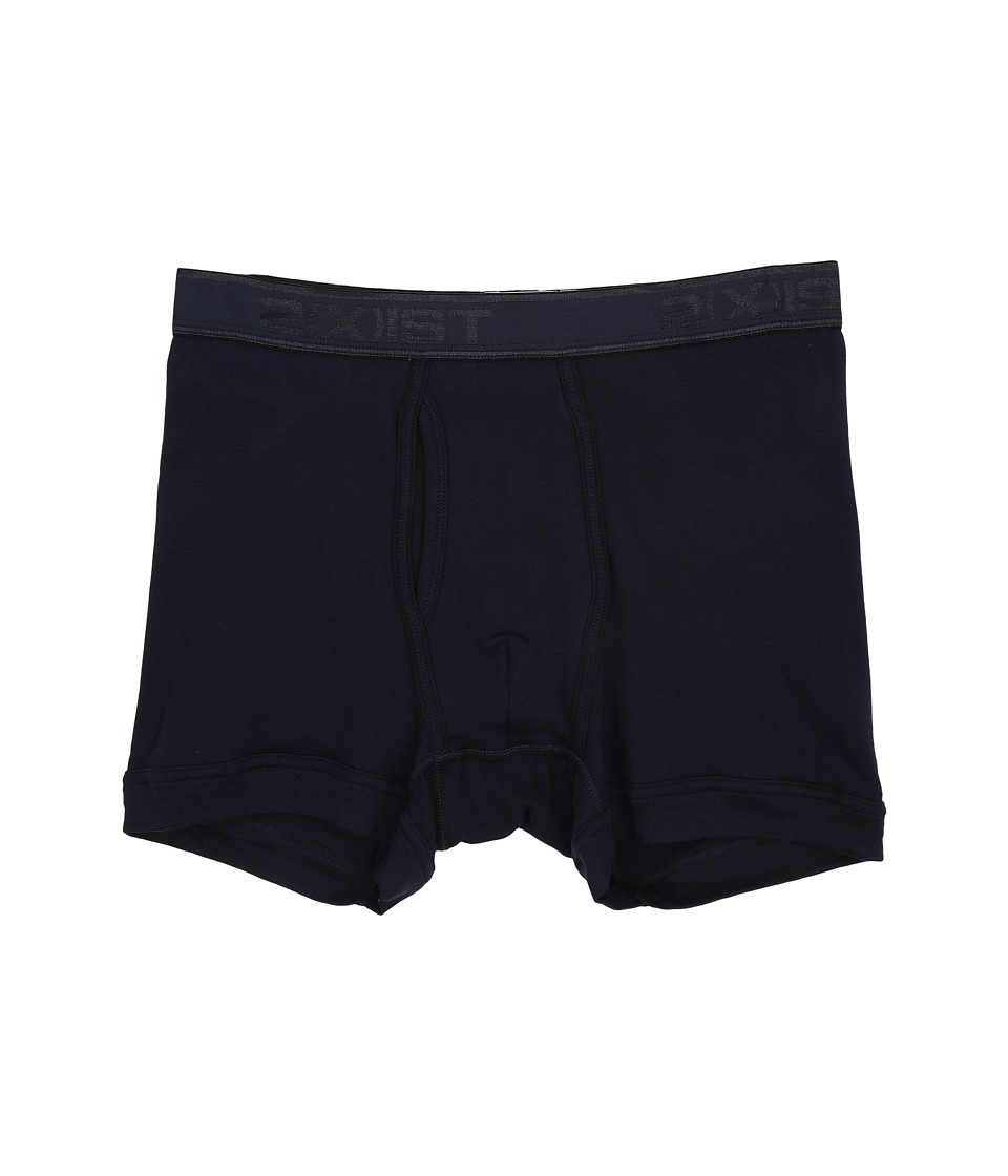 2(X)IST - Pima Boxer Brief (Navy Blazer) Men's Underwear