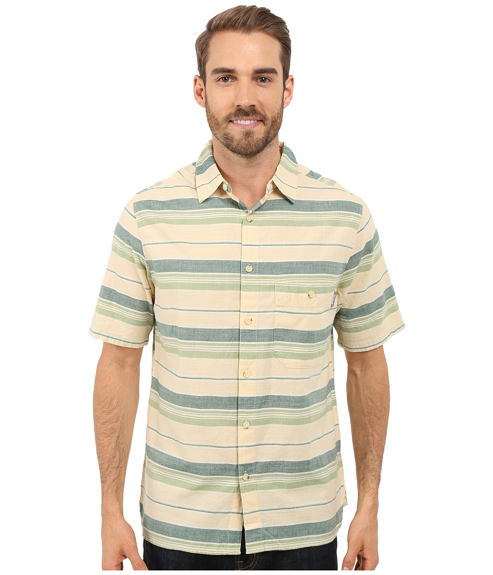 Woolrich - Lost Lake Chambray Stripe Shirt - Modern Fit (Lichen) Men's Short Sleeve Button Up