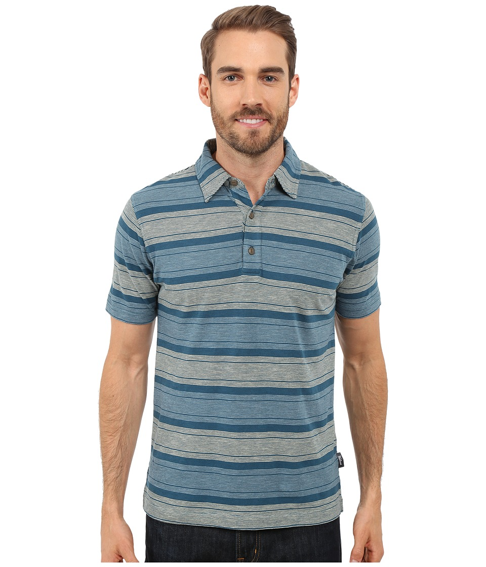 Woolrich - Between the Lines Stripe Polo - Modern Fit (Nordic Blue) Men's Short Sleeve Pullover