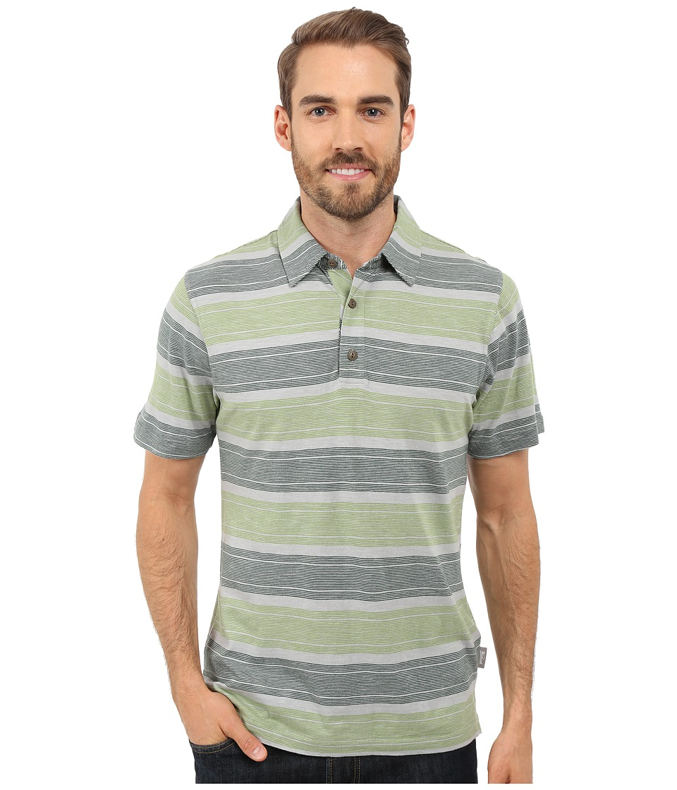 Woolrich - Between the Lines Stripe Polo - Modern Fit (Utility Green) Men's Short Sleeve Pullover