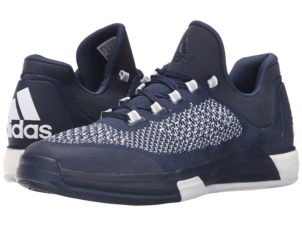 adidas - 2015 Crazylight Boost Primeknit (Navy/White/Navy) Men's Shoes