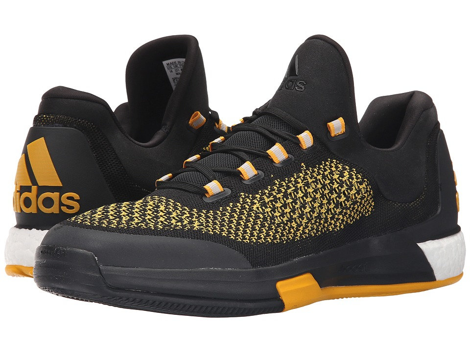 adidas - 2015 Crazylight Boost Primeknit (Black/Gold/Black) Men's Shoes