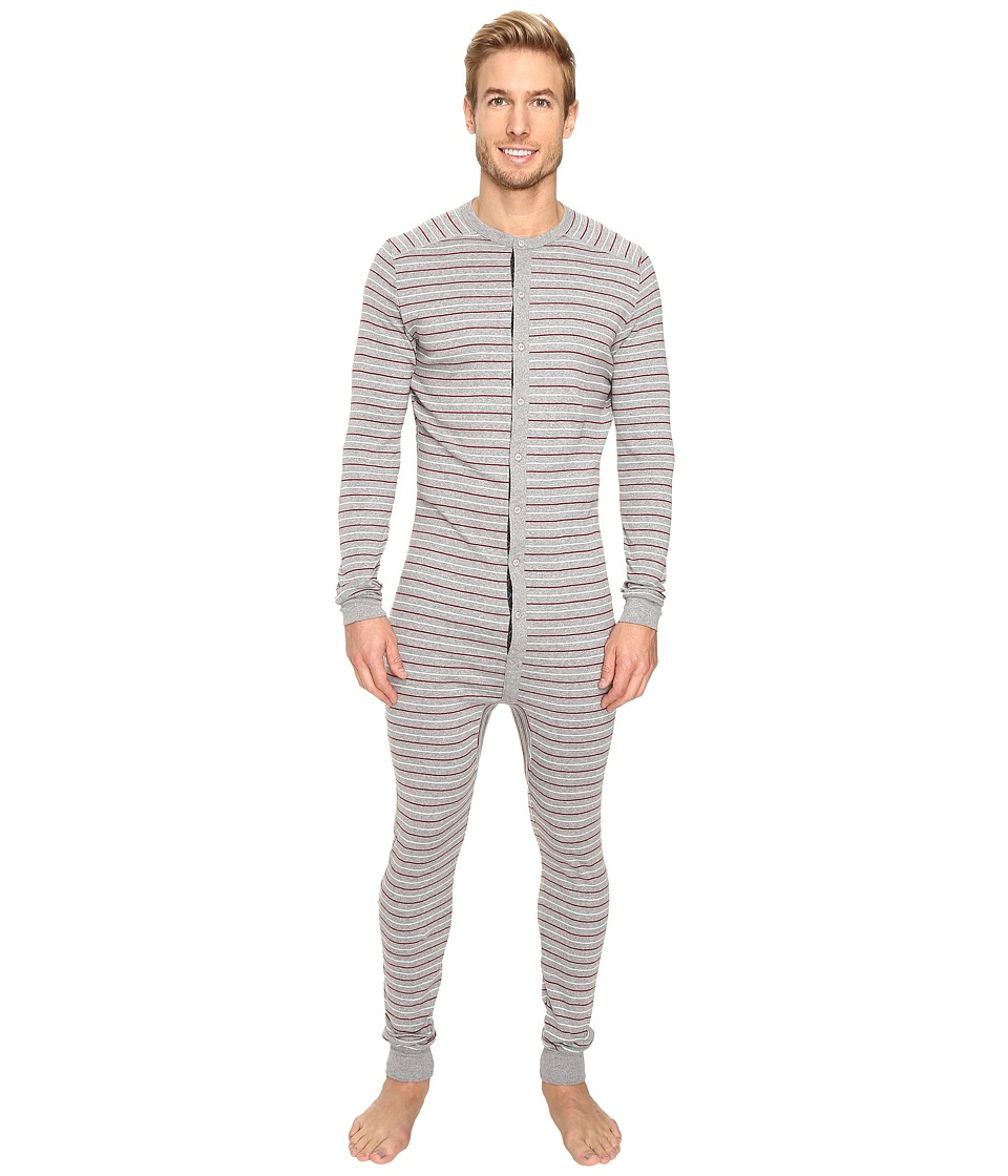 2(X)IST - Tartan Union Suit (Heather Grey Yarn-Dye) Men's Pajama Sets