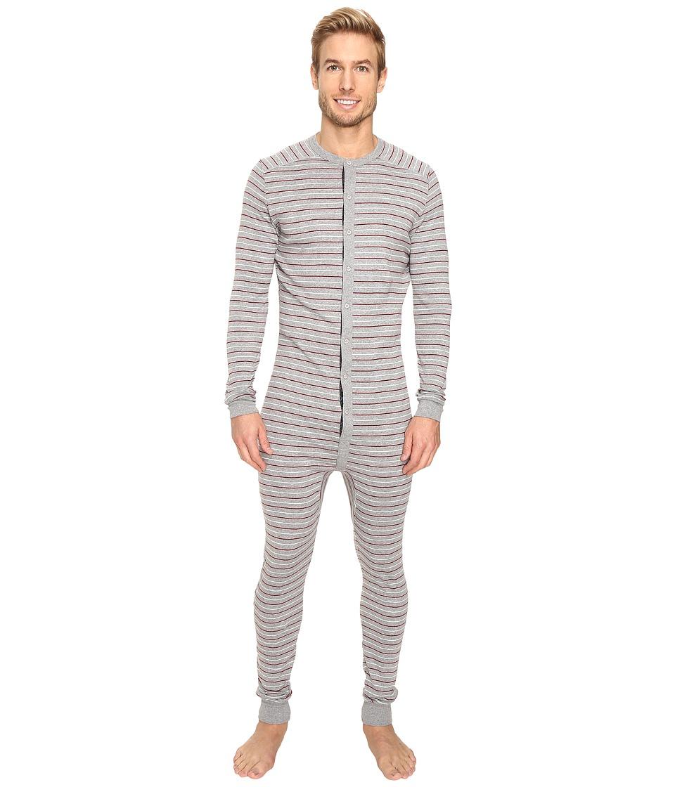 2(X)IST - Tartan Union Suit (Heather Grey Yarn-Dye) Men's Pajama Sets