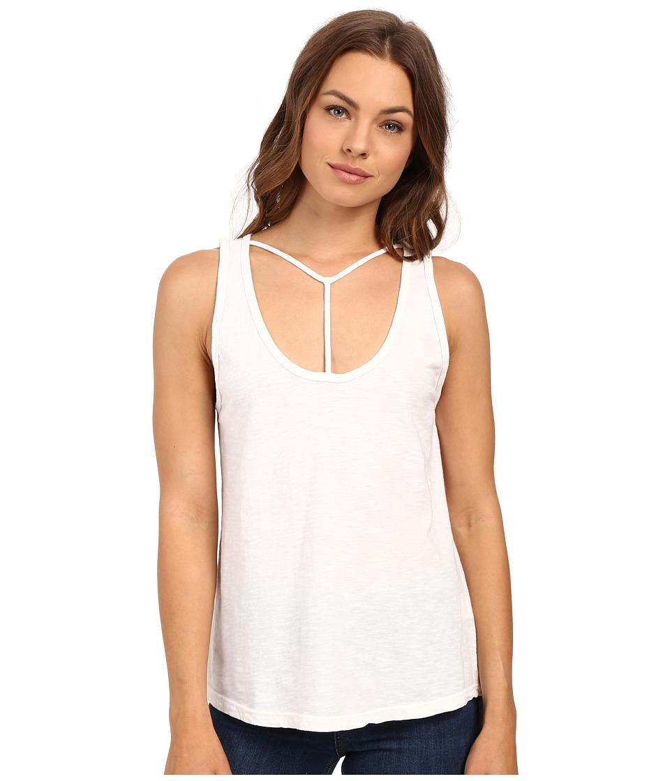 LNA - Bondage Strap Tank Top (White) Women's Sleeveless
