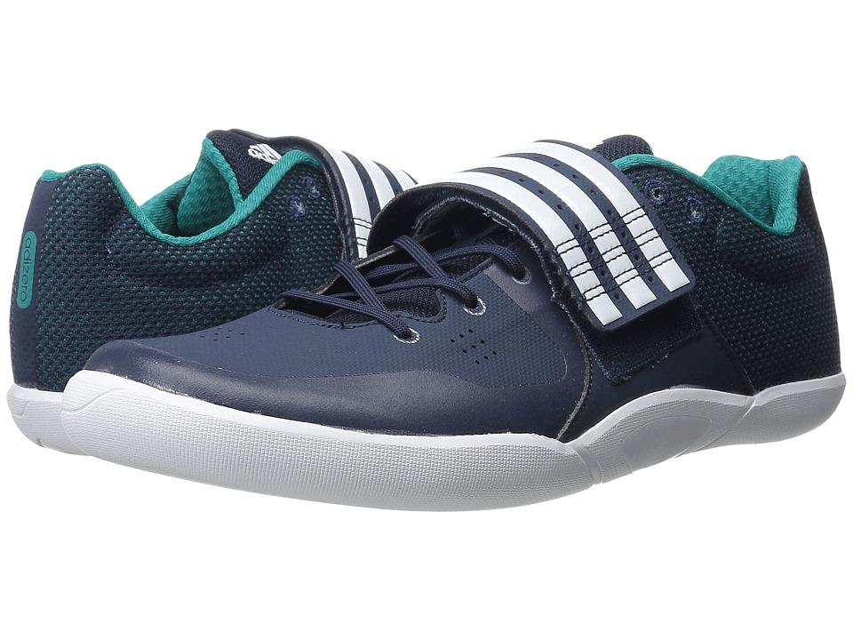 adidas - Adizero Discus/Hammer (Navy/White/Equipment Green) Athletic Shoes