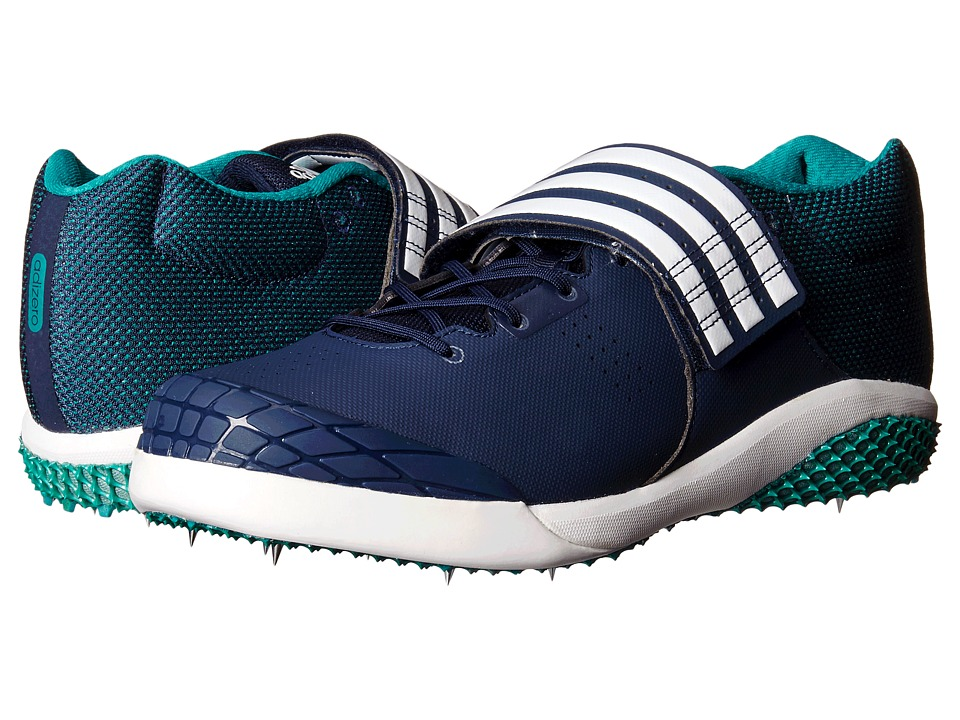 adidas - Adizero Javelin (Navy/White/Equipment Green) Athletic Shoes