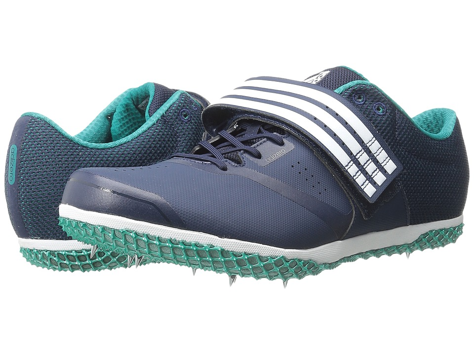 adidas - Adizero HJ (Navy/White/Equipment Green) Athletic Shoes