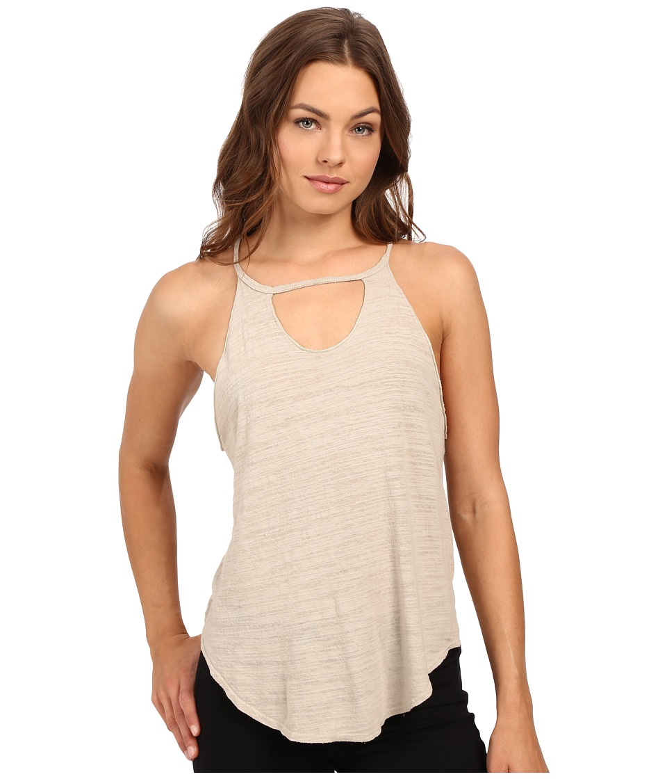LNA - Cut Out Bib Tank Top (Oat) Women's Sleeveless