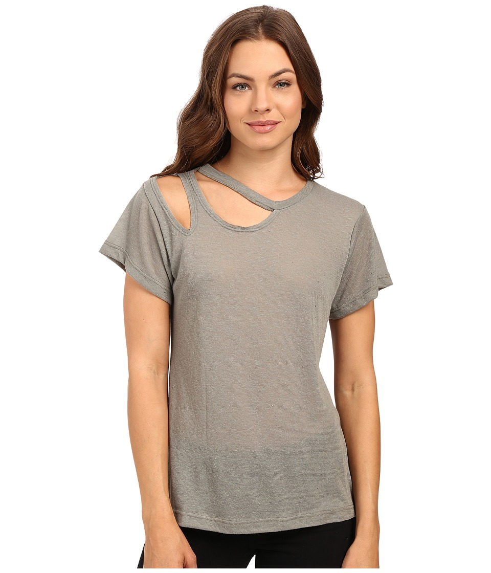LNA - Short Sleeve Double Cut Tee (Olive) Women's T Shirt
