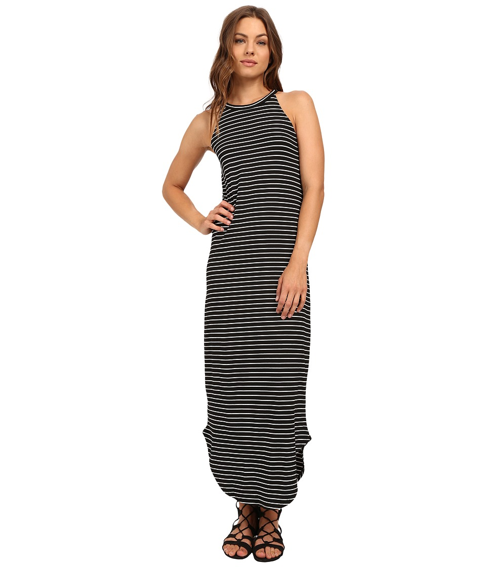 LNA - Stripe Leigh Dress (Black/White Stripe) Women's Dress