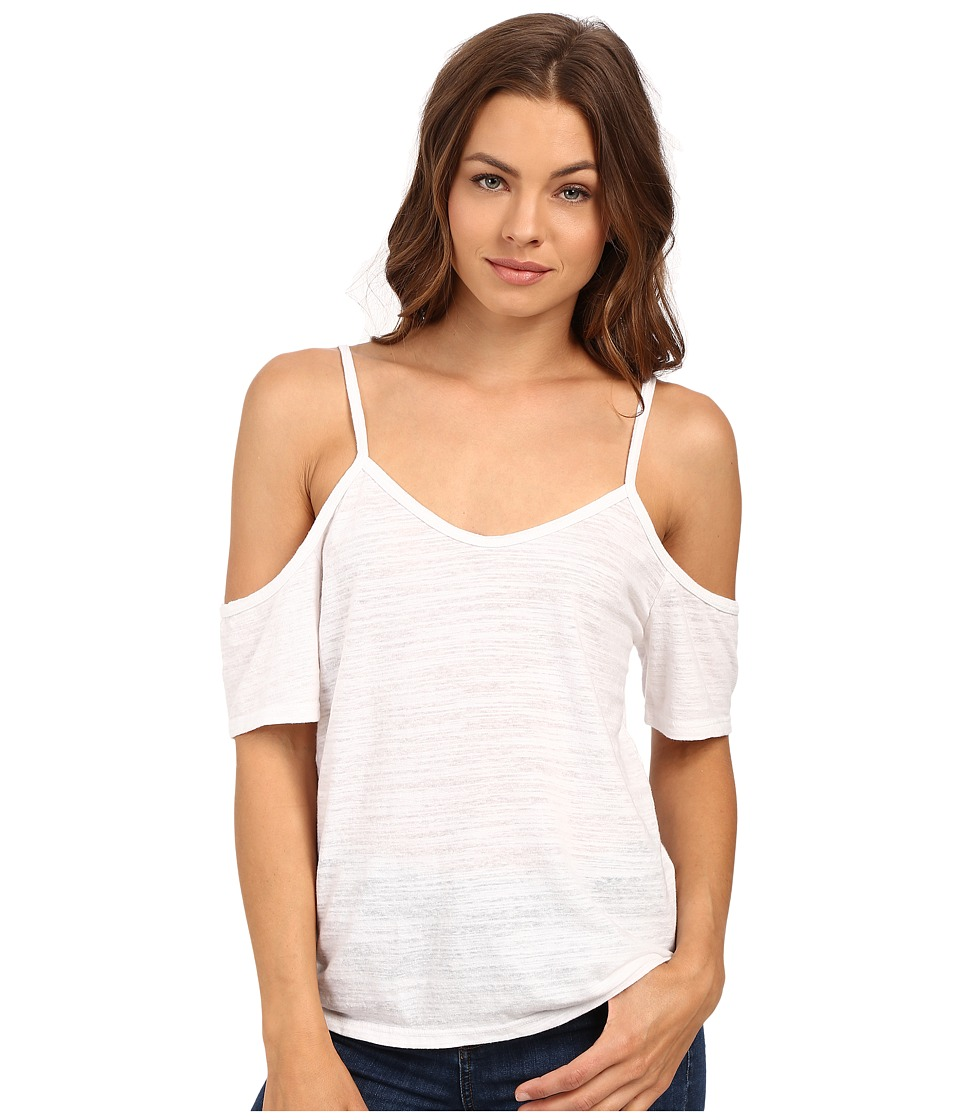 LNA - Off the Shoulder Tee (White) Women's T Shirt