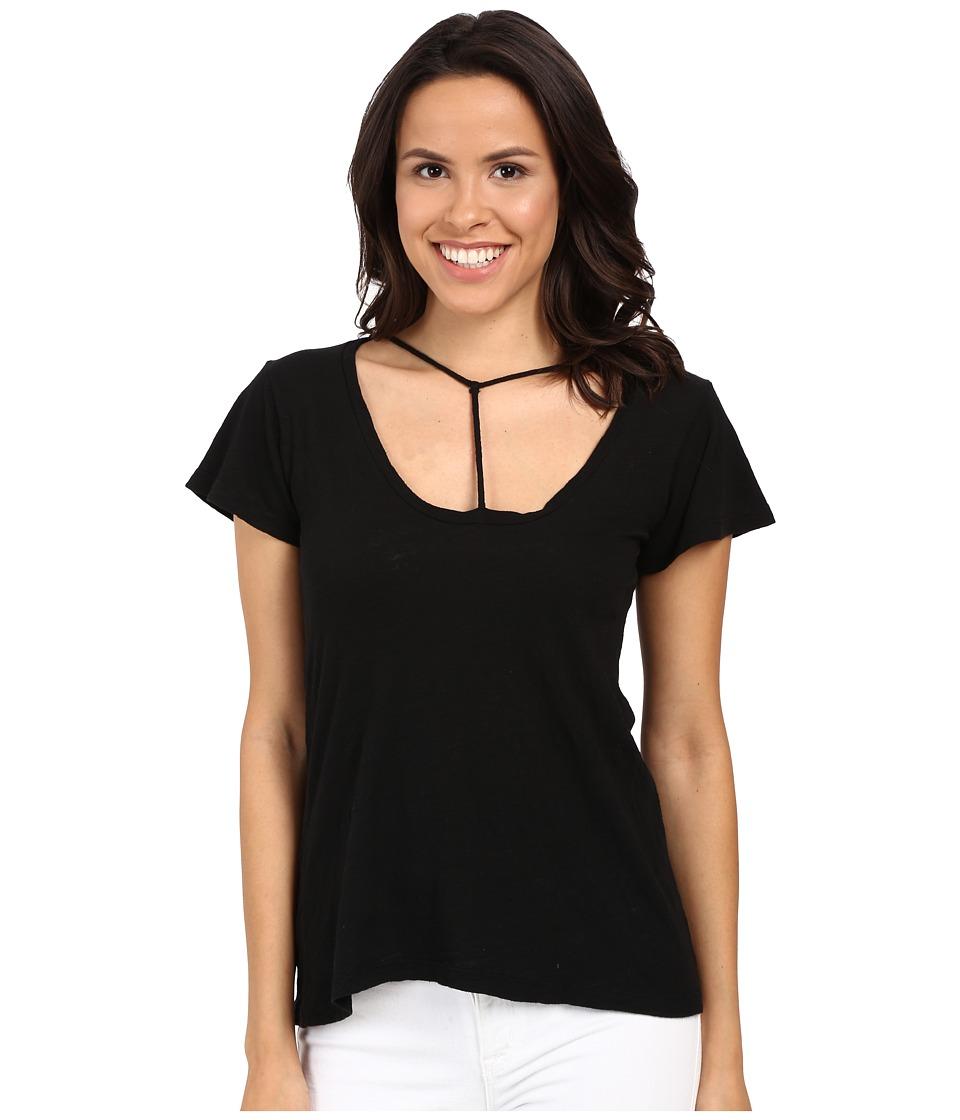 LNA - Bondage Strap Tee (Black) Women's T Shirt