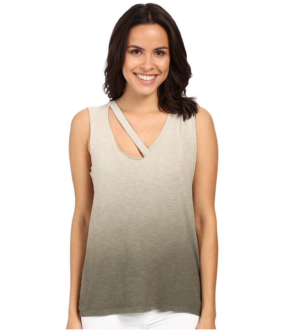 LNA - Fallon V Tank Top (Olive Ombre) Women's Sleeveless