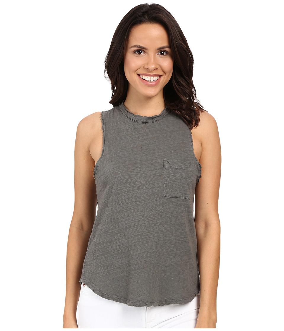 LNA - Mock Neck Muscle Tank Top (Nickel) Women's Sleeveless