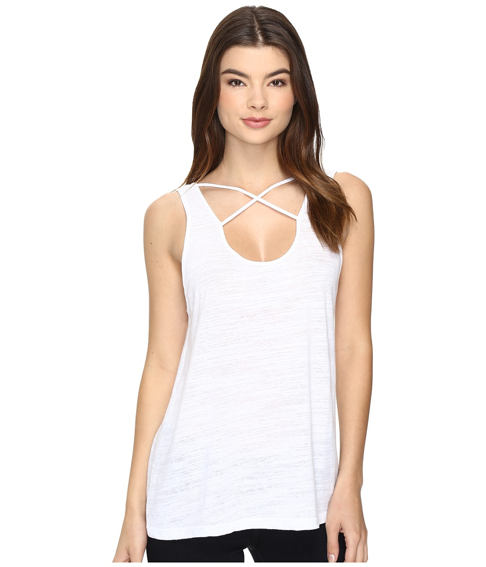LNA - Cross Strap Tank Top (White) Women's Sleeveless