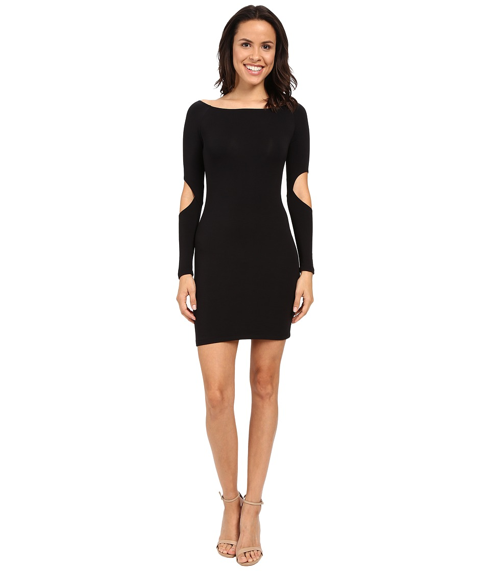 LNA - Off Shoulder Mini Dress (Black) Women's Dress
