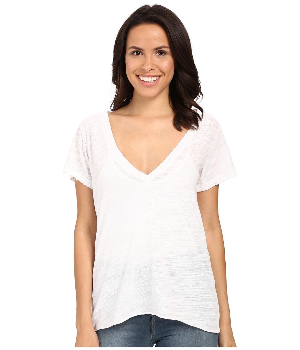 LNA - Extreme V Tee (White) Women's T Shirt