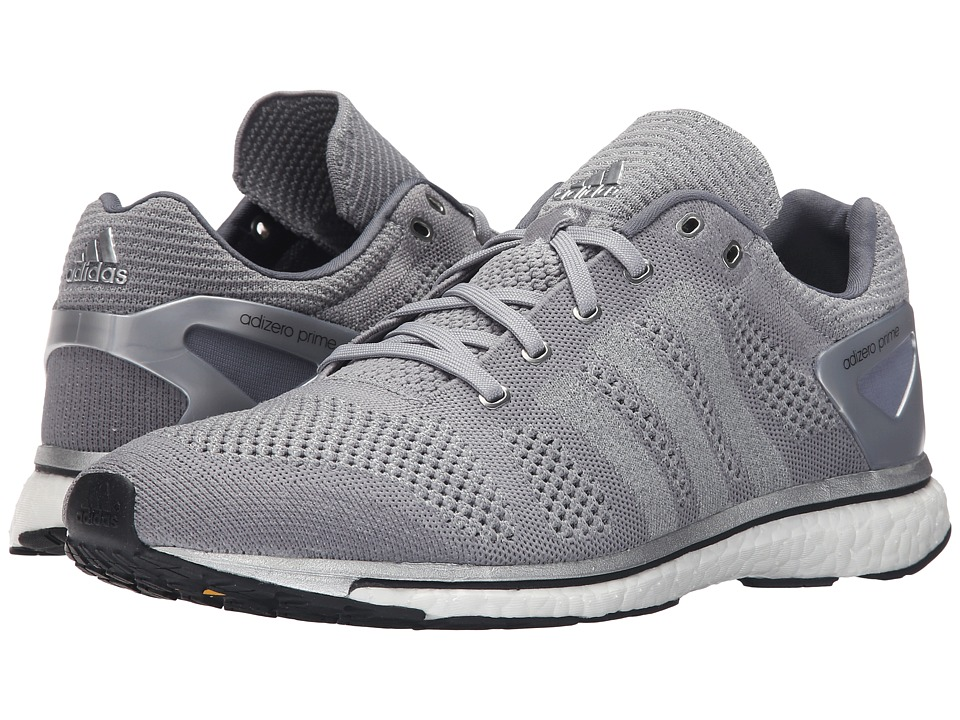 adidas - Adizero Prime LTD (Mid Grey/Silver/White) Athletic Shoes