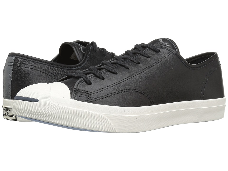 Converse Jack Purcell LTT Ox Leather Pack (Black Leather) Athletic Shoes