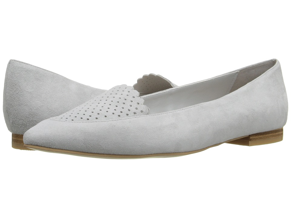 Cole Haan - Allison Skimmer Perf (Silver Mist Suede) Women's Dress Flat Shoes