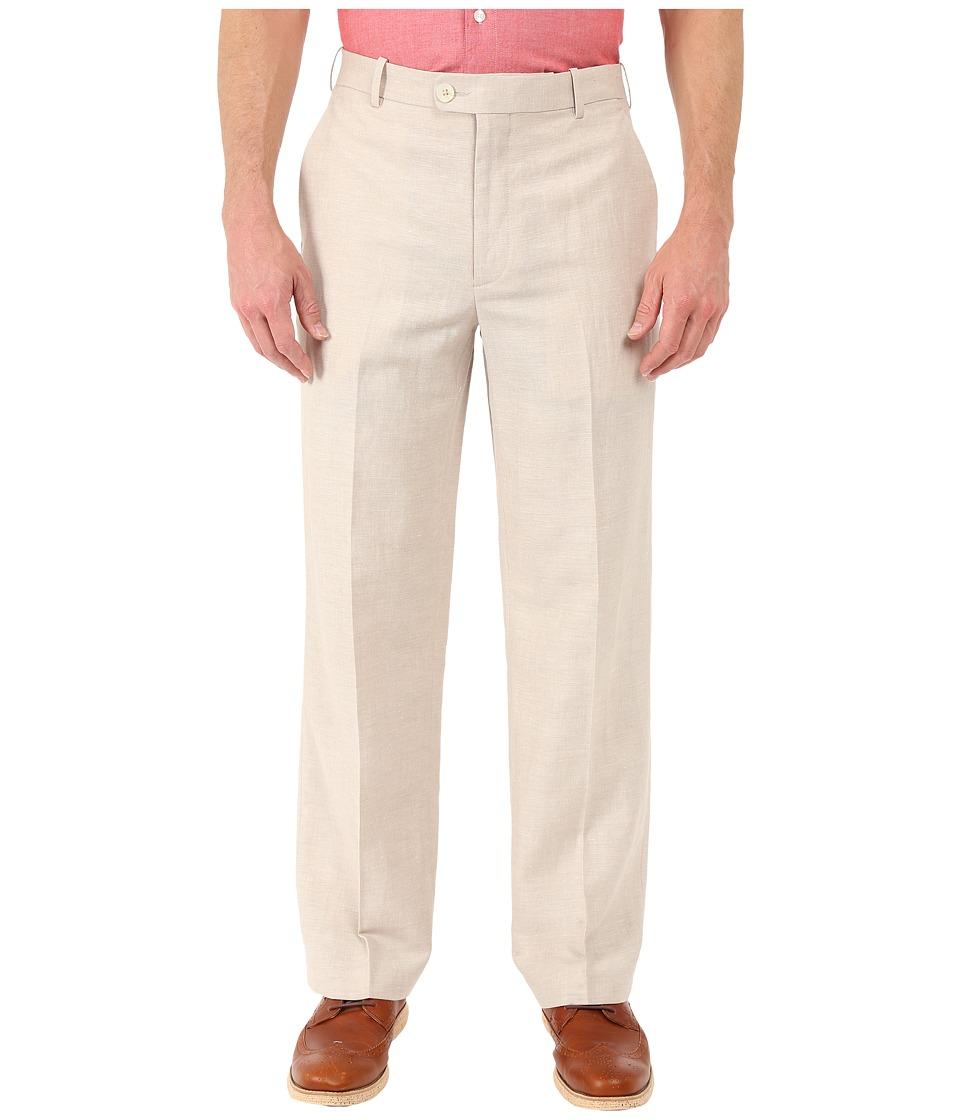 Perry Ellis Portfolio - Classic Fit Linen Portfolio Pant (Natural Linen) Men's Dress Pants