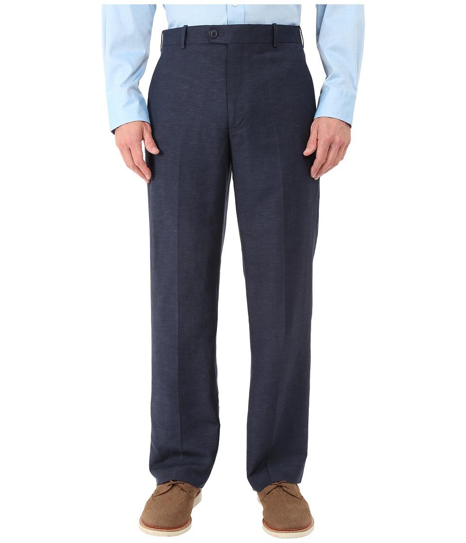 Perry Ellis Portfolio - Classic Fit Linen Portfolio Pant (Navy) Men's Dress Pants