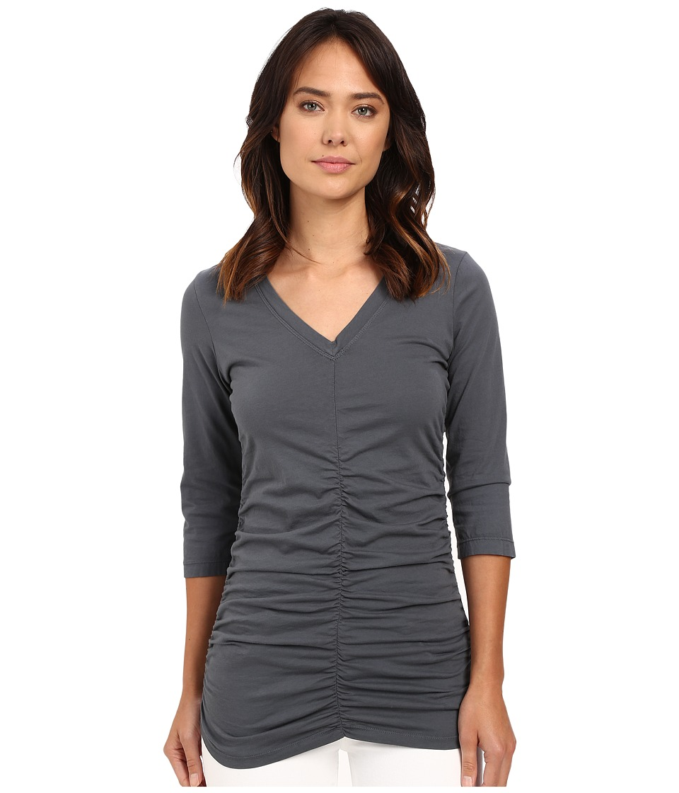 XCVI - Mission V-Neck (Charcoal) Women's Clothing