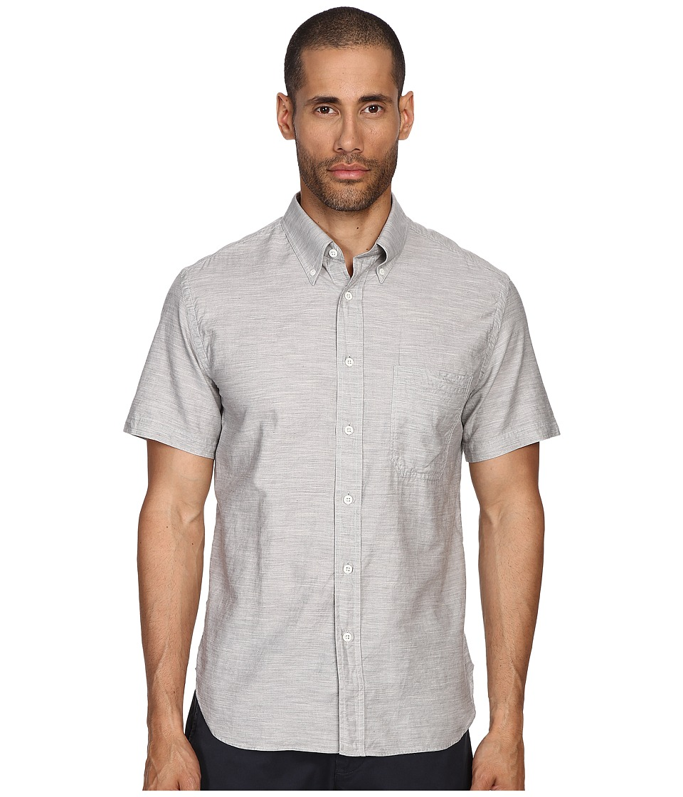 Billy Reid - Short Sleeve Tuscumbia Button Up Shirt (Fog) Men's Short Sleeve Button Up