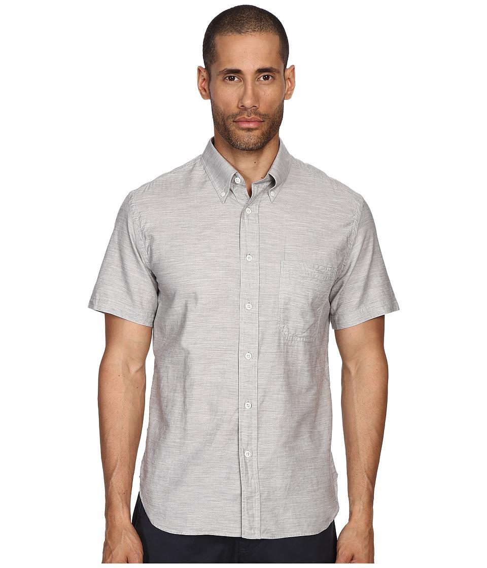 Billy Reid - Short Sleeve Tuscumbia Button Up Shirt (Fog) Men's Short Sleeve Button Up