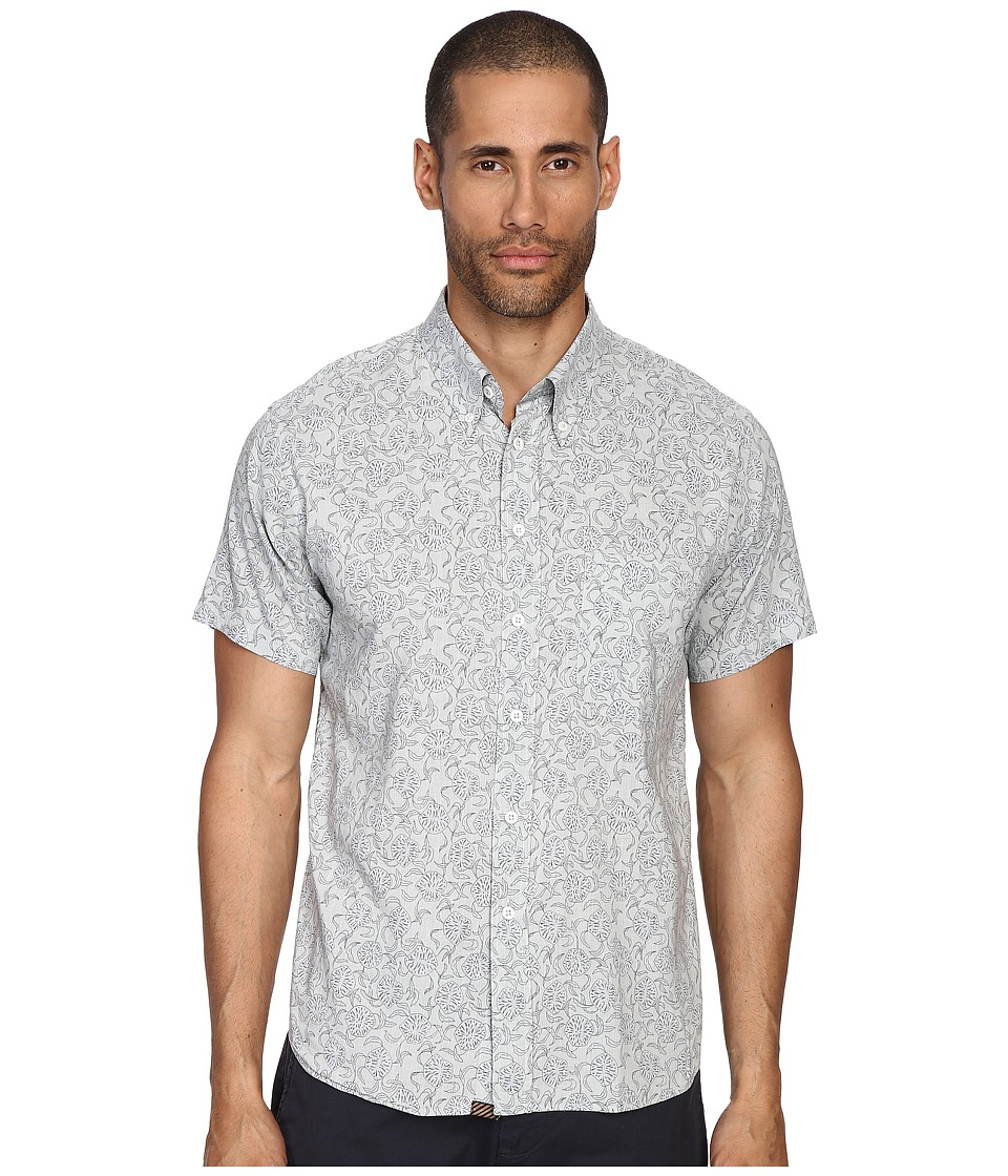 Billy Reid - Short Sleeve Tuscumbia Button Up Shirt (Marine Wash) Men's Short Sleeve Button Up