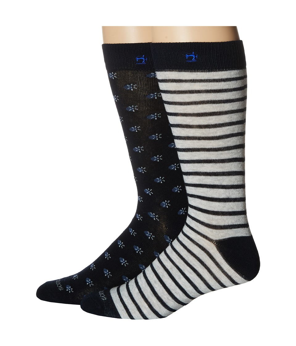 Scotch & Soda - Classic Socks with Yarn-Dyed Pattern (Dessin 17) Men's Crew Cut Socks Shoes