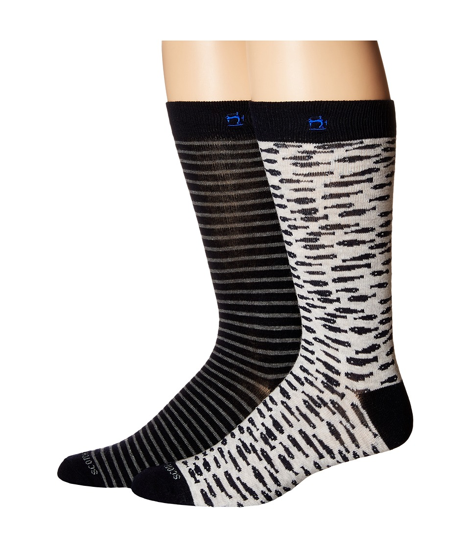 Scotch & Soda - Classic Socks with Yarn-Dyed Pattern (Dessin 2C) Men's Crew Cut Socks Shoes